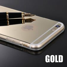 For iPhone 5S SE 6 6S 6+Plus - Hard TPU Rubber Silicone Luxury Mirror Case Cover