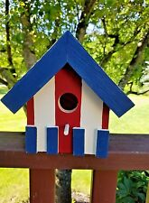 Wooden Bird House Hand Made and Painted