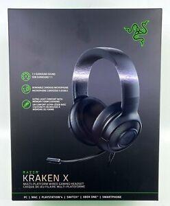 Razer Kraken X Multi-Platform Wired Gaming Black Headset