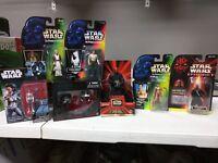 Lot Of 7 Star Wars Toys/Figures Han Leia Darth Maul Obi-wan POTF/Black Series