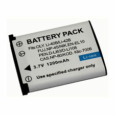 Battery For Fujifilm NP45, NP-45, NP-45A, NP-45B, NP-45S Lithum Ion Rechargeable