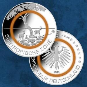 Deutschland - Subtropische Zone - 5 X 5 Euro 2018 PP Proof - Polymerring - ADFGJ