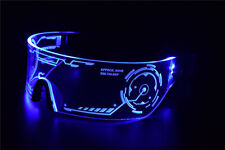 Cyberpunk Goggles LED Tron Visor Glasses Perfect For Cosplay Festivals Halloween