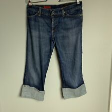 AG Adriano Goldschmied The Short Distressed Denim Cropped Jeans 29 Regular USA