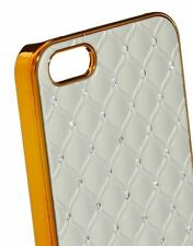 Genuine Skinny Dip Champagne Quilt Bling Case + Screen Protector iPhone 5 5s SE