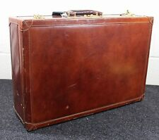 Monsac Italian Brown Leather Suitcase, Frank Sinatra Jr. Estate