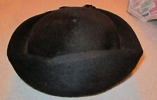 VINTAGE BLACK HENRY POLLAK HAT NY 100% WOOL WITH FELT BLEND