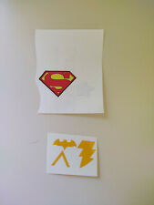 Vintage 1970'S Mego WGSH Repro stickers; Superman, Cap America, Batgirl Etc.