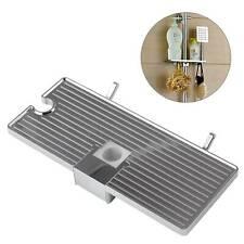 Hollow Tray Holder Bathroom Pole Shelf Shower Bath Storage Caddy Rack Organiser