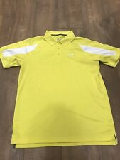 Under Armour Men's Large Heatgear Golf Polo Yellow