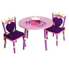 Levels of Discovery Kids Princess Table and 2 Chairs Pink Purple Furniture New.