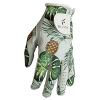 Golf Glove 100% Cabretta Leather with Paradise Palms color design by Burdie