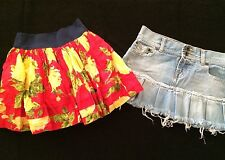 Lot Of 2  Abercrombie Kids Vintage Denim Size 14 & Tier Mini Skirt Kids Size M