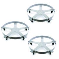 Drum Dolly 55 Gallon 5 Wheel Swivel Casters Heavy Steel Frame 1250 lbs x 3