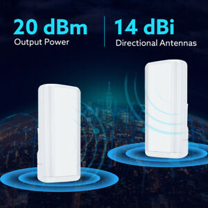 2x 450Mbps Wireless Router WiFi AP Network Extender Bridge Point to Point Access