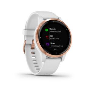 Garmin vivoactive 4S Watch White Wristband: White - Silicone