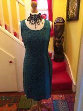 Lovely Ladies Blue Leopard Print Marc Aurel Dress UK Size 14