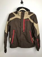 Men's Spyder AXYS Brown Ski Snowboard Jacket Lined Pockets Small Snow Winter