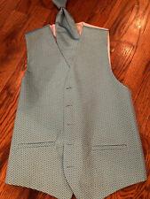 Cardi Venetian Blue tuxedo vest /longtie size Small
