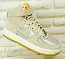 52975291f92970 NIKE AIR FORCE 1 HI PRM Grey Suede Womens Hi Top Trainers Sneakers 4.5 UK 38