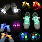 LED Flash Luminous Light Up Glow Nylon Strap Shoelace Shoe Laces Disco 8 Color