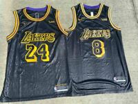 Men's/Youth Kobe Bryant #8 or #24 Black Mamba Los Angeles Lakers Stitched Jersey