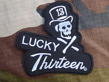 ECUSSON PATCH THERMOCOLLANT toppa aufnaher LUCKY 13 THIRTEEN hot rod custom rock