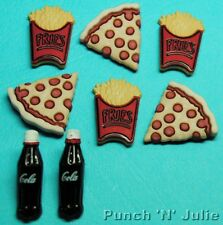 PIZZA CHIPS COLA French Fries Snack Junk Food Novelty Dress It Up Embellishments
