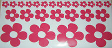25 DAISY FLOWERS STICKERS CAR WALL ,16 COLOURS!Free P&P