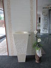 Éviers en pierre naturelles carré beige Colonne poli évier