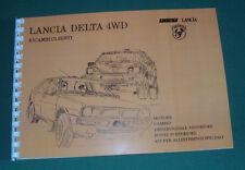 """Manuale - catalogo ricambi Clienti Lancia Delta 4WD Abarth """"Gruppo A""""...entra!"""