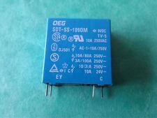 SDT-SS-109DM 9VDC 4 pins 10A 250V OEG TYCO SDTSS109DM blue NOS a