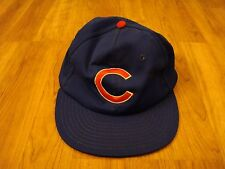 VINTAGE Chicago Cubs MLB Baseball Snapback Ball Cap Hat Blue Size M/L