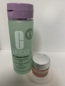 CLINIQUE 2 FULL SIZE - ALL ABOUT EYES 15ML & ALL ABOUT CLEAN 200ML - NEW GENUINE
