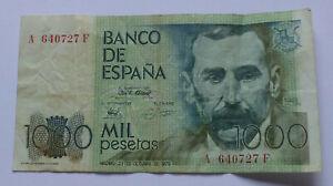 Spain 1000 Pesetas 1979 Banknote