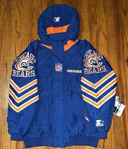 RARE Vintage 90's NWT Starter Pro Line NFL Chicago Bears Jacket Youth Size Large