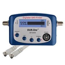 Dur Line Sat Finder Digital HD SATFINDER SF 2500 LCD Kompass HDTV 3D + F-Kabel