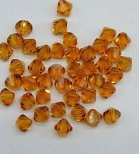 12pc Swarovski Crystal Topaz 8mm Bicone Bead; November Birthstone