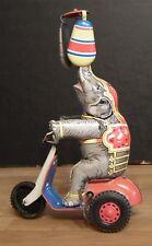 Blechspielzeug  Elefant auf Dreirad  Rad Federwerk   Made in US Zone