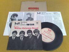 "SUPERB UK 1964 "" THE BEATLES CHRISTMAS RECORD "" FAN CLUB FLEXI + INSERT & MAILER"
