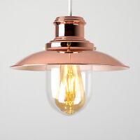 Modern Fishermans Copper + Glass Ceiling Light Pendant Shade Lightshade Lights