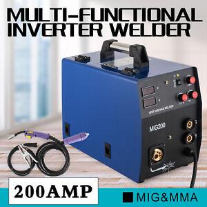 mig200 MIG welder gas no gas MIG MMA lift MAG 2 in 1 welding machi multifunction