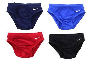 Nike Boys Swim Brief Swimsuit Bottom Youth Core Solid Swimwear TESS0052