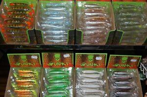 Gunki Bumpy 7,6cm alle Farben Barsch Zander Soft Bait teils UV aktiv Paar Preis