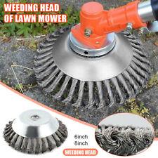 """6"""" Indestructible Trimmer Garden Grass Trimmer Head Weed Brush Steel Wire Wheel"""