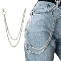 Double Strands  Key Chain Rock Punk Trousers Pant Jean Hip Hop-Jewelry/