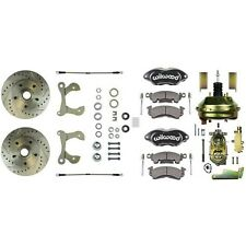1955-64 GM Wilwood Front Disc Brake Conversion Kit W/ Black Dual Piston Calipers