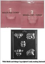 Medium 3D Skull Chocolate Candy Mold, Day of the Dead chocolate candy mold