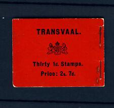 TRANSVAAL SOUTH AFRICA KE VII 1905 STAMP BOOKLET SG SB1 PRISTINE CONTENT