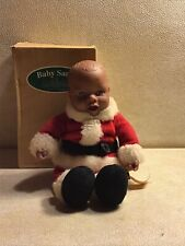New ListingAnne Geddes African American Baby Santa Bean Bag Plush from 1999 #526913. No Hat